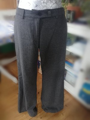 H&M Wełniane spodnie szary-ciemnoszary