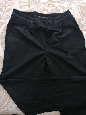 Stoffhose Zara schwarz