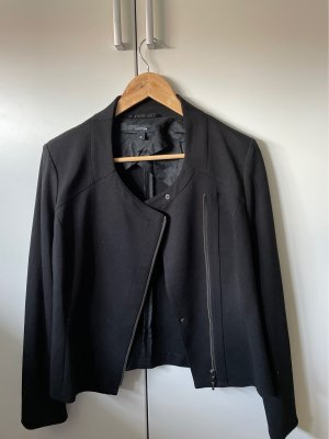 Comma Biker Jacket black-silver-colored