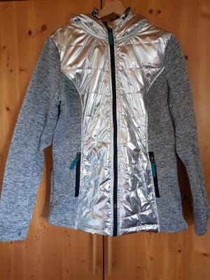 Fleece Jackets silver-colored-grey