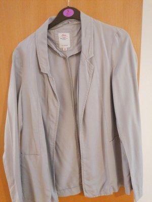 s. Oliver (QS designed) Chaqueta tipo blusa gris claro