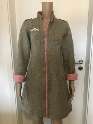 Gsus Wollen jas roze-zilver Wol