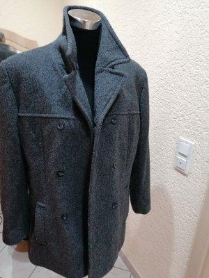 aus Italien Cappotto corto grigio scuro