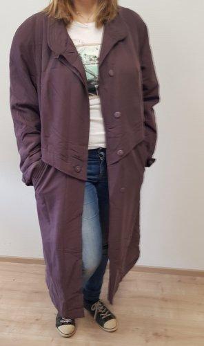 Cappotto lungo fino a terra rosso mora-marrone-viola