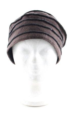Cappello in tessuto marrone stile casual
