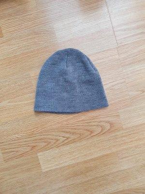 H&M Cappello in tessuto grigio-grigio chiaro