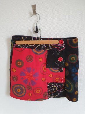 Desigual Jupe tricotée noir-rouge