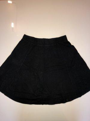 H&M Falda de patinador negro Poliéster