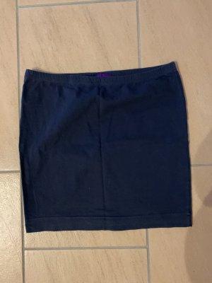AJC Falda de punto azul oscuro