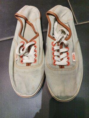 Vans Zapatos de patinador gris claro-naranja claro