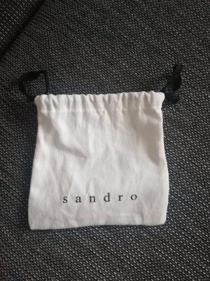 Sandro Paris Stoffen tas wit-zwart