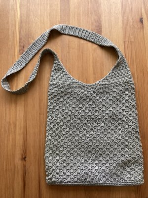 Canvas Bag silver-colored-light grey