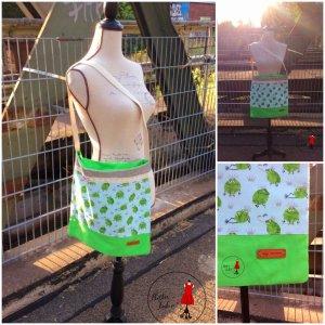 Jute tas lichtgroen-groen