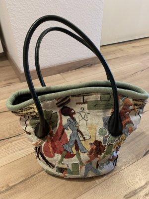 Stofftasche Marke Sander mit buntem Muster