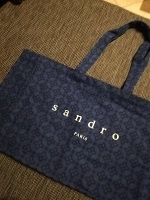 Sandro Paris Stoffen tas blauw