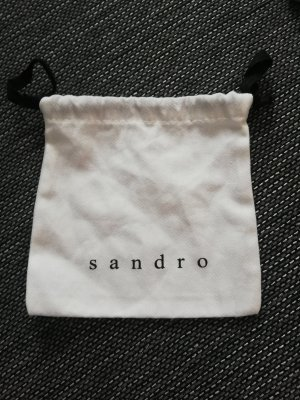 Sandro Paris Borsa di tela bianco-nero