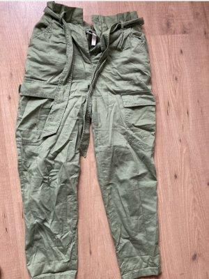 H&M Jersey Pants lime-green-khaki