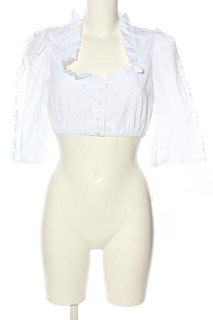 Stoiber Blusa tradizionale bianco stile casual