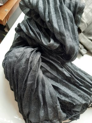 Étole noir-argenté