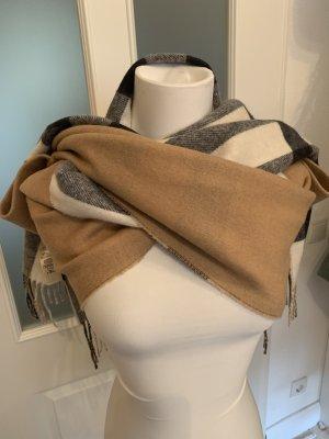 Burberry Écharpe en laine beige-noir