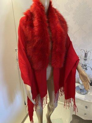Stola Paris Tina Rot faux fur neu mit Etikett