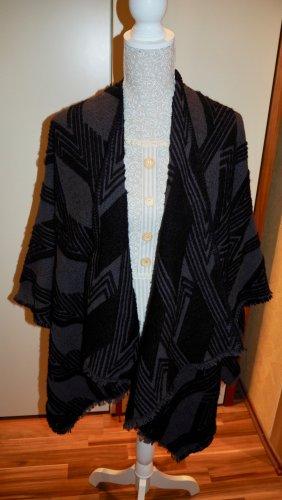 someday Bufanda de lana negro-gris