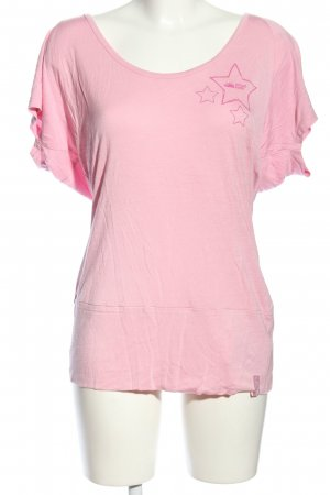 Stone Deek Lang shirt roze casual uitstraling