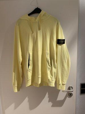 Stone Island Hooded Sweatshirt pale yellow