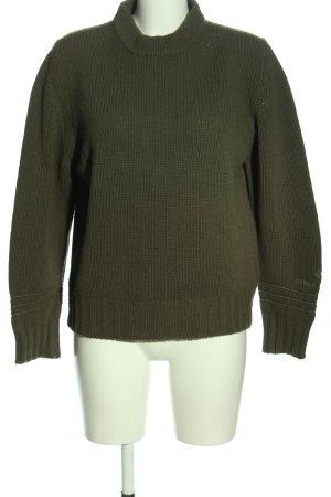 Stone Island Wollpullover khaki Motivdruck Casual-Look