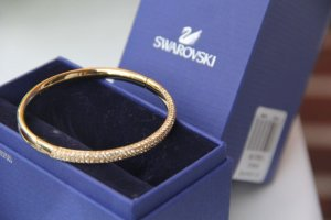 Swarovski Bangle goud Metaal