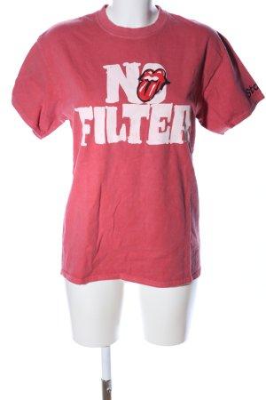 Stones Print-Shirt rot-weiß Motivdruck Casual-Look