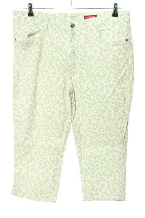 Stooker 3/4 Length Jeans light grey leopard pattern casual look