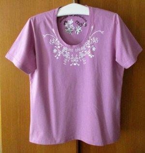 STOOKER Damen Shirt T-Shirt Rosa  figurbetont U-Ausschnitt, ca. Gr. 46