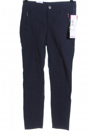 Stooker Röhrenhose blau Business-Look