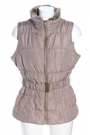 store twenty one Quilted Gilet cream quilting pattern casual look