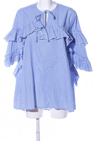 Storets Blusenkleid blau-weiß Streifenmuster Casual-Look