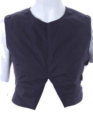 Storets Cut-Out-Top dunkelblau Elegant