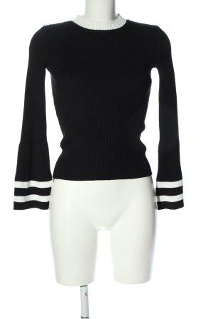 Storets Feinstrickpullover schwarz-weiß Streifenmuster Casual-Look