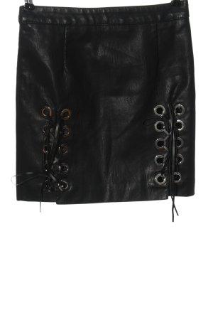 Storets Kunstlederrock schwarz Casual-Look