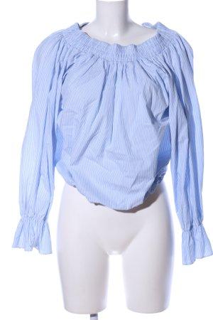 Storets Langarm-Bluse blau-weiß Allover-Druck Casual-Look