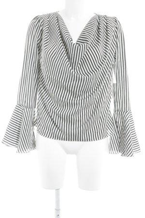 Storets Langarm-Bluse schwarz-weiß Streifenmuster Casual-Look