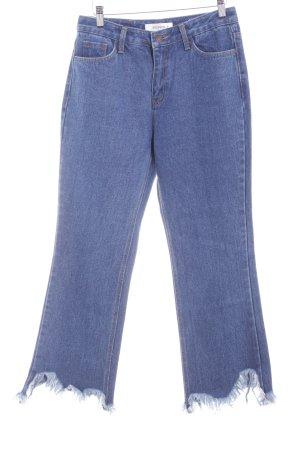 Storets Straight-Leg Jeans stahlblau-hellbeige Casual-Look