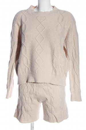 Storets Strick Twin Set wollweiß Zopfmuster Casual-Look