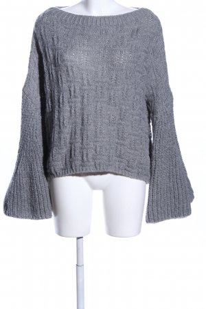 Storets Strickpullover hellgrau Zopfmuster Casual-Look