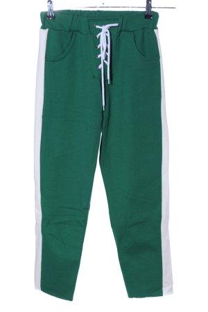 Storets Joggingbroek groen-wolwit casual uitstraling