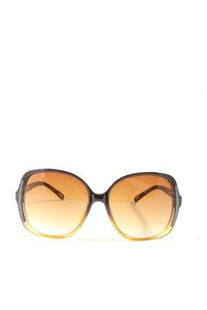 storm Hoekige zonnebril licht Oranje-bruin kleurverloop casual uitstraling