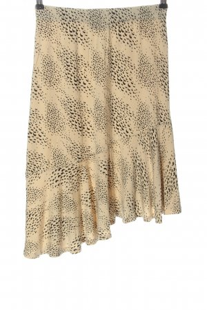 Storm & Marie Asymmetry Skirt cream-black abstract pattern casual look