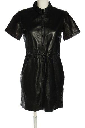 Storm & Marie Vestito in pelle nero effetto bagnato
