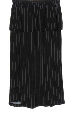 Storm & Marie Midi Skirt black-white allover print casual look