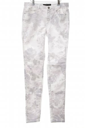 Storm & Marie Slim Jeans light grey-white allover print casual look
